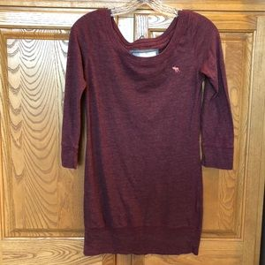 Abercrombie and Fitch Maroon Sweater S.
